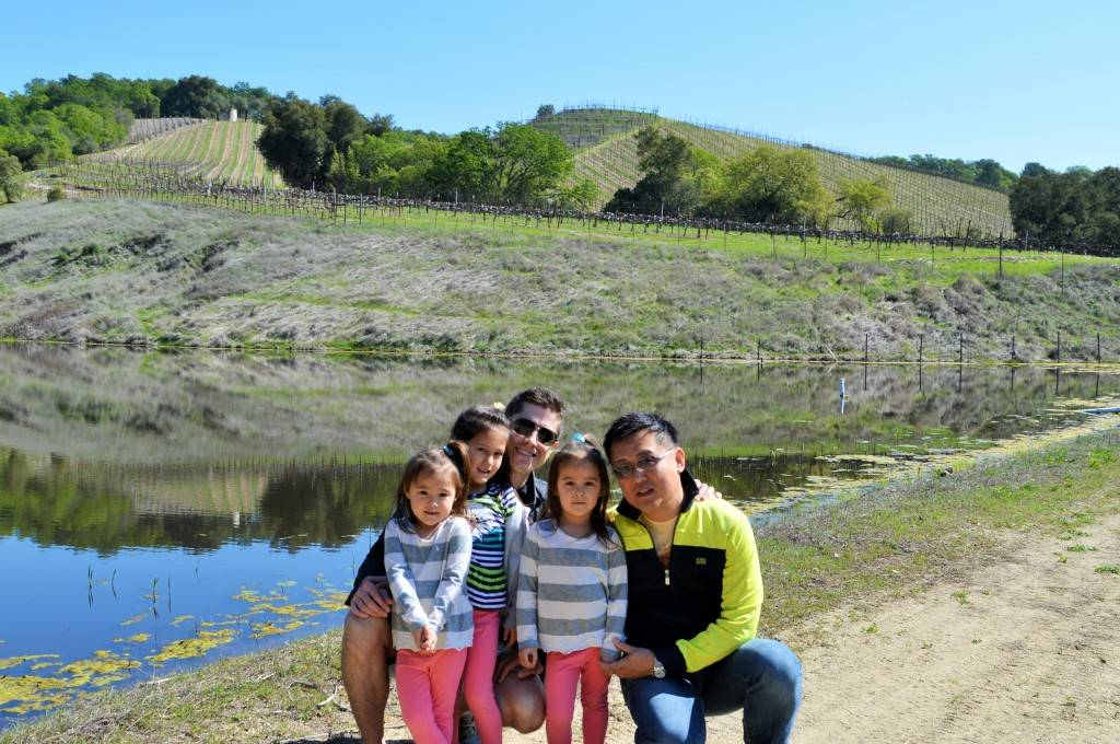 My family visiting Seavey Vineyard in St. Helena