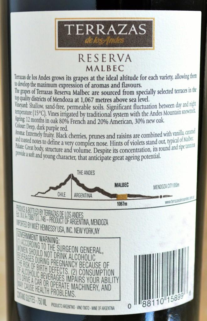 Terrazas Reserva Malbec Review Terrazas Winery