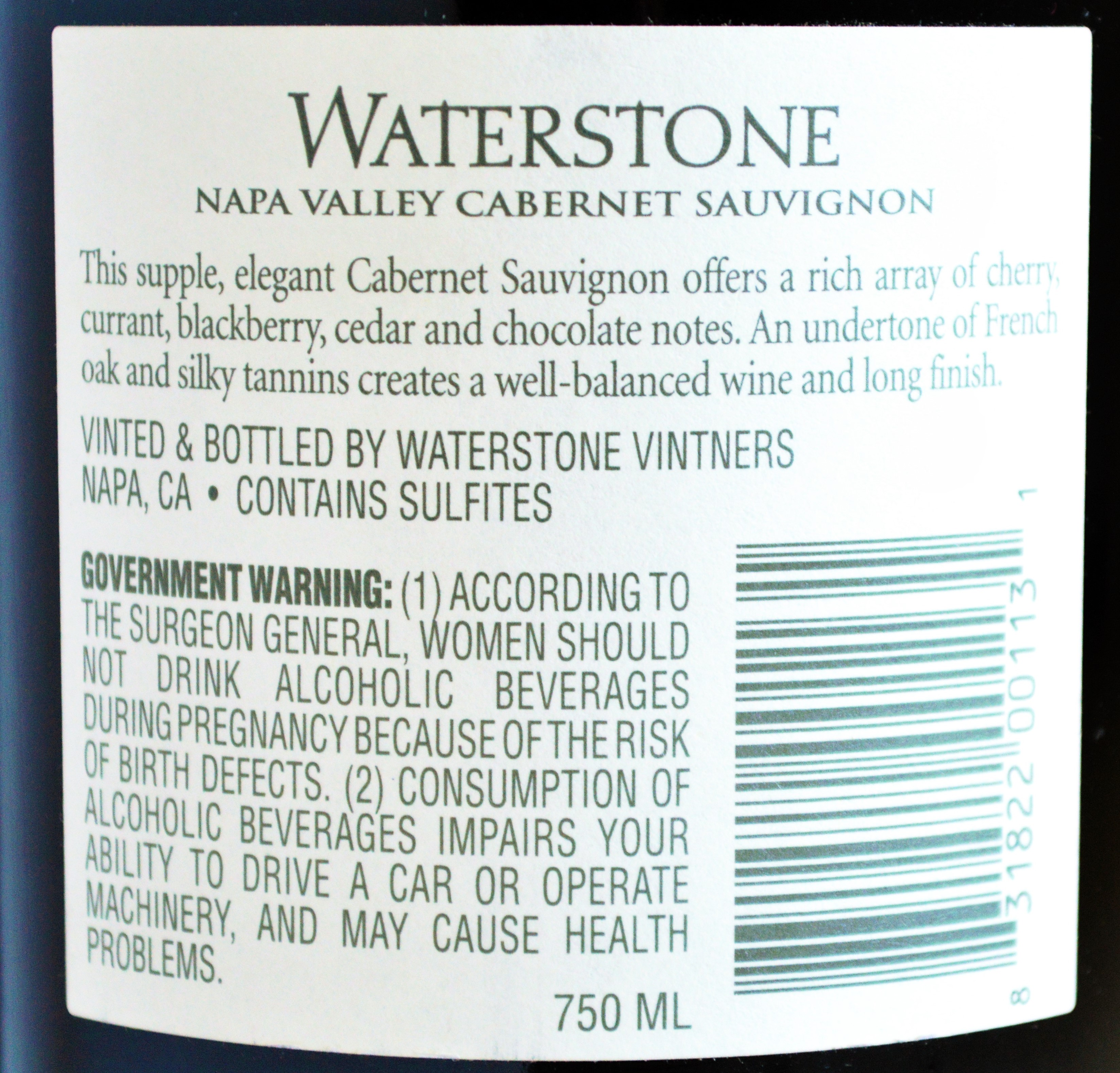 Waterstone Napa Valley Cabernet Review