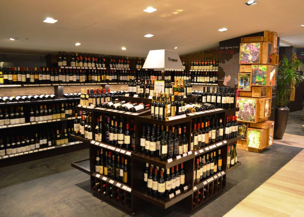 Wine Shop in Korea