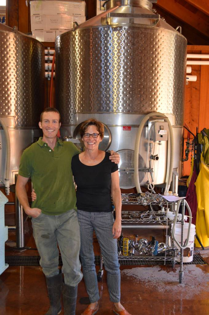 Dorie Seavey and Winemaker Jim Duane