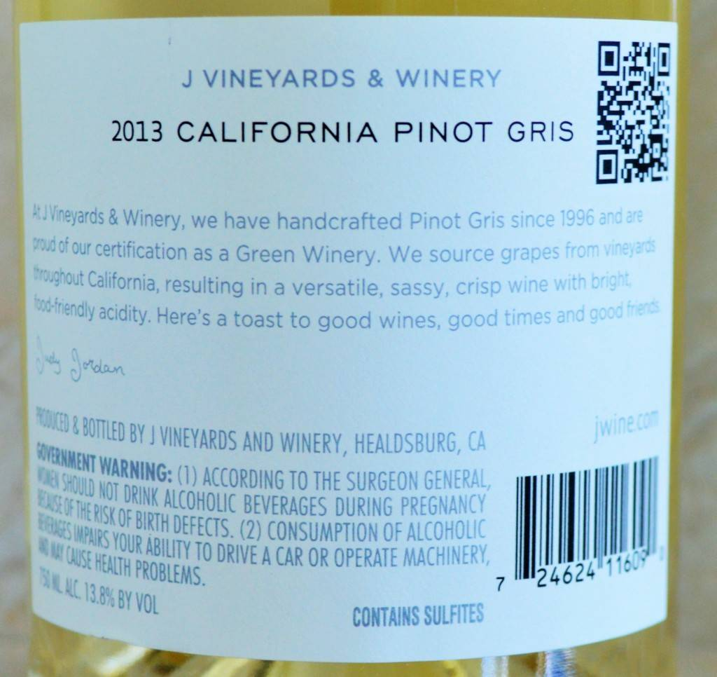 J Vineyards Pinot Gris Review