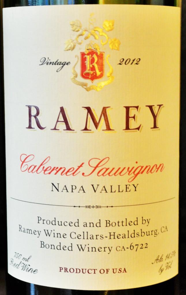 Ramey Cabernet Sauvignon Napa Valley 2012