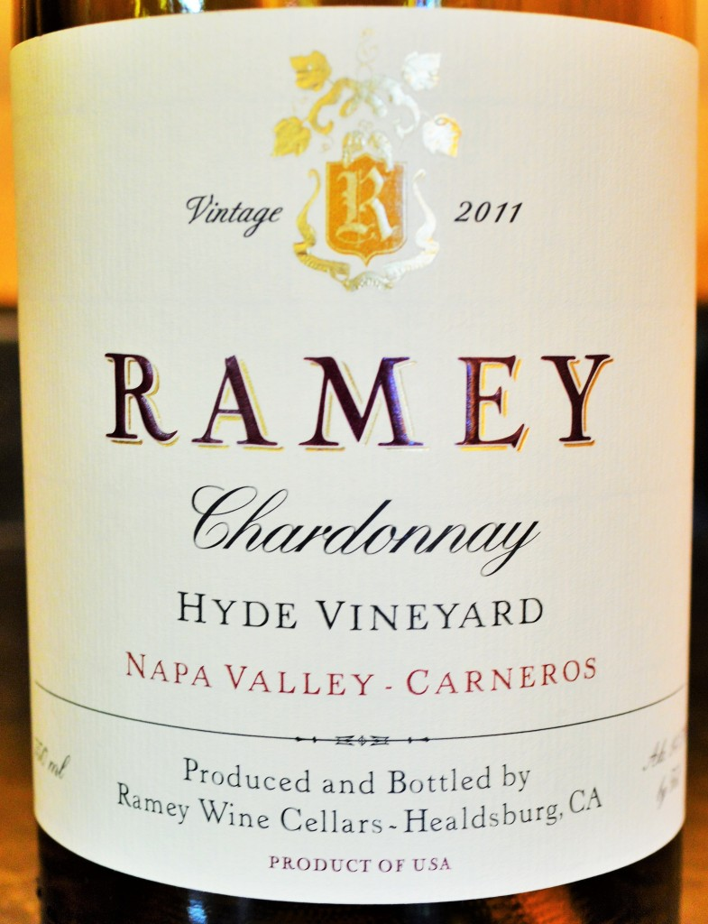 Ramey Chardonnay Hyde Vineyard Carneros Napa Valley 2011