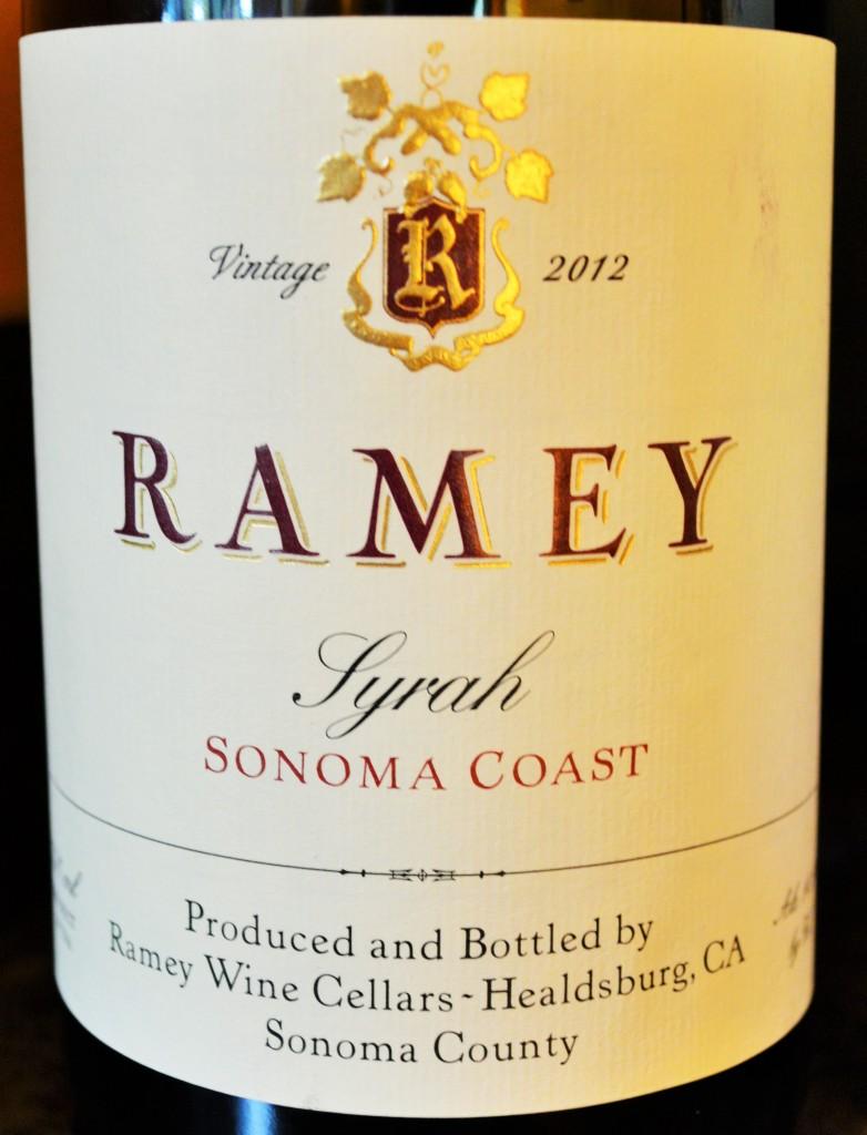 Ramey Syrah Sonoma Coast 2012