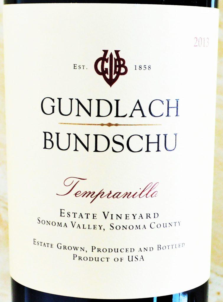 Gundlach Bundschu Estate Tempranillo