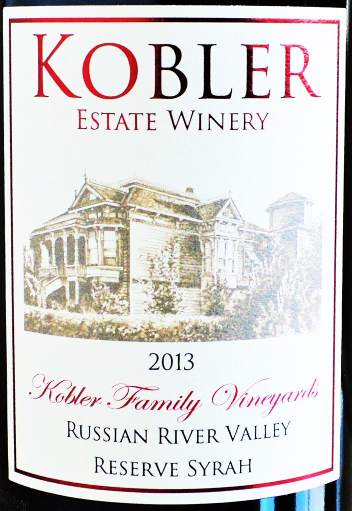 Kobler Estate Winery Reserve Syrah