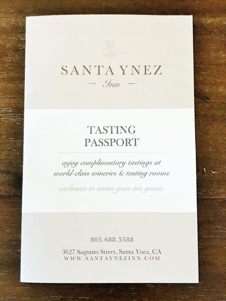 Santa Ynez Inn Tasting Passport